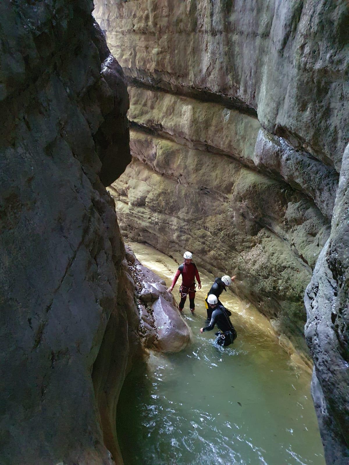 Canyoning  Tavernola Bergamasca