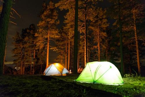 In tenda sotto le stelle